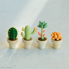 https://flic.kr/p/dwo7yP | Fimo cactus | First of all let me thank you for all your sweet comments on my miniature cactus series! You guys are so encouraging!     Here is the second set! I'll be back with more soon. Blogged here