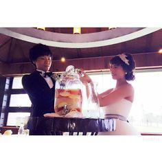 果実酒は結婚式のときのです(^ ^) #半年経ちました#早いような遅いような#結婚式#果実酒#果実酒作り#ルイガンズ