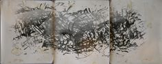 "Geng jianyi   abstract work   2000   61.0 * 51.0 cm (24"" * 20"") x 3 pieces   reagent painting on photo paper