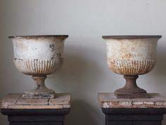 Antique metal urns...LOVE!