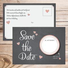 Hier haben wir eine richtig coole Save the Date Karte für euch! Schaut sie euch an und entdeckt noch viele weitere schöne Hochzeitskarten in unserer Galerie