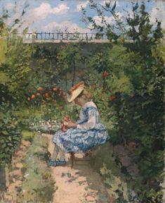 Camille Pissarro (1830-1903) Jeanne au jardin, Pontoise