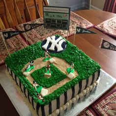 Yankees Baseball Birthday Cake