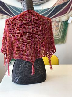 The Phoenix Lament Shawl - free crochet pattern by Mary Casale / The Altered Stitch.