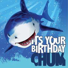 Descriptions 3 Ply Lunch Napkins Happy Birthday Shark Splash - Design : Shark Splash - Material : Paper - Capacity : 3 PLY Features - Shark Splash - Luncheon Napkin - Hpy Birthday Ships within 4 Busin