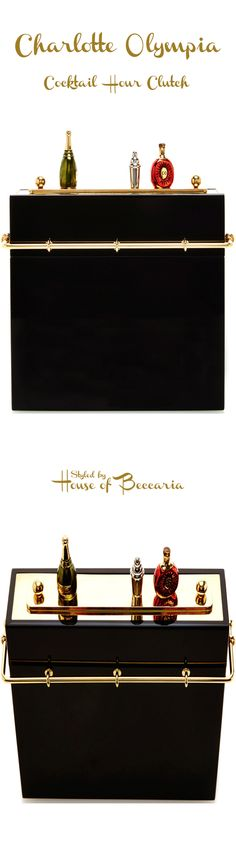 """Charlotte Olympia """"Cocktail Hour"""" Clutch. So Adorable <3 I always love miniature things. 