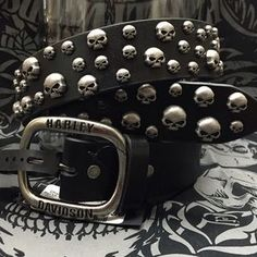 Skull Catcher Belt Size M. Check it out! Price: $90 Size: M