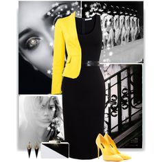 """yellow pop"" by divacrafts on Polyvore"