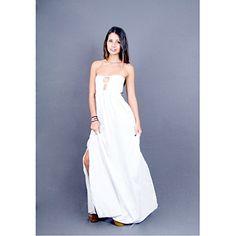 Josephine White Strapless Long Dress MEDIUM Muche et Muchette http://www.amazon.com/gp/product/B00NK460DE
