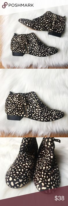 Dolce Vita Leopard Print Boots W/ Zipper Detail Dolce Vita Leopard Print Boots W/ Zipper Detail Great condition. VERY clean inside.   Happy to answer any questions!  Thanks for looking!   OFFERS are welcome!  ** 10% off Bundles of 3+ ** Ships within 24 hours!  Smoke free home. No trades or Paypal. Dolce Vita Shoes Ankle Boots & Booties