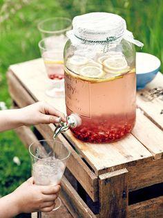 pink lemonade met granaatappel