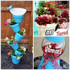 Here are a ton of fun clay pot crafts to make at home! You can find planters, candy machines, teacher gift ideas, and much more!
