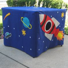 Outer Space Card Table Playhouse Personalized by missprettypretty, $220.00