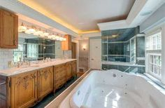 Master Bathroom with beautiful jetted tub