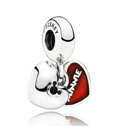 PANDORA Disney Mickey & Minnie with Red Enamel Dangle