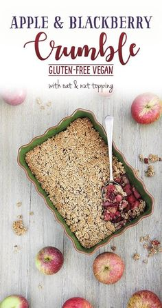 Apple & Blackberry Crumble by Trinity - gluten-free, vegan and healthy dessert