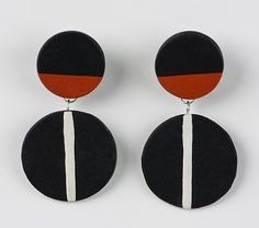 Vera Earring by Klara Borbas: Polymer Clay Earrings available at www.artfulhome.com