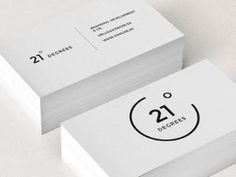 21 Degrees Business Card logo minimal corporate design black white graphic by myra