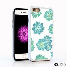 Succulent Blue Plant Phone Case / TPU iPhone Case iPhone 6 iPhone 6S Plus Case iPhone 5s Galaxy s5 Galaxy s6