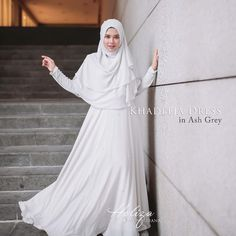 "287 Likes, 9 Comments - BFS YEAR END SALE NOW! (@byfatinsuhana) on Instagram: ""Khadeeja Dress in Ash Grey RM150 shj. Dapatkan sekarangg di butik dan Website. While stock last! …"""