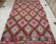 6.6x10.2 FT200x310 cmVINTAGE Handmade Pink Color by pillowsstore, $572.00