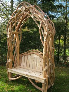 Coppice Creations - Rustic Garden Furniture and Fencing from the Wyre Forest Garden Furniture, Outdoor Furniture, Outdoor Decor, Country Cottage Garden, Woodworking Inspiration, Porch Swing, Fencing, Farmhouse Style, Relax