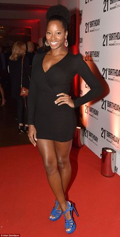 Ready to rumba: New Strictly Come Dancing star Jamelia showed off her fabulous legs in a p...