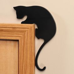 Cat Door Frame Sitters, Set of 2 - Cat Decor - Walter Drake