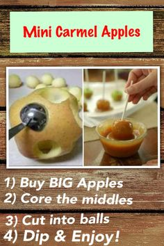 Mini Carmel Apples who would have thought
