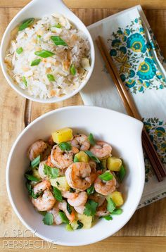 Chinese Five Spice Shrimp with Coconut Rice - A Spicy Perspective