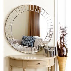 abbyson living santorini round wall mirror