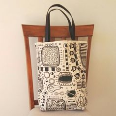 Canvas tote bag Garden screen print faux leather by PaperPearNZ Christmas Gifts For Women, Birthday Gifts For Women, Women Accessories, Fashion Accessories, Canvas Tote Bags, Screen Printing, Artisan, Handmade Gifts, Leather