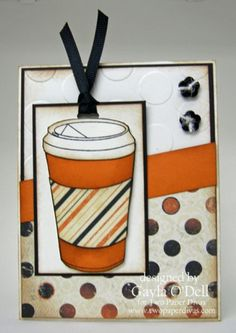 Coffee on the Go- Fall Coffee Blog Hop & Sketch Saturday - Two Paper Divas