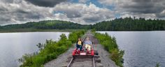 Added to my to-do list===Saranac Lake Welcomes the First Rail Bikes in America