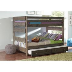 Wildon Home ® Wrangle Hill Youth Full Bunk Bed