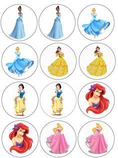 "Single Source Party Supply - 2.5"" Disney Princess Cupcake Edibl Icing Images"