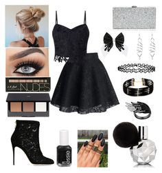 """""""#37 ‼️"""" by hannahsmith-xv ❤ liked on Polyvore featuring Lipsy, Dolce&Gabbana, Milly, H&M, Accessorize, Forever 21 and Essie"""
