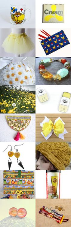 Mellow Yellow by Yesim on Etsy--Pinned+with+TreasuryPin.com