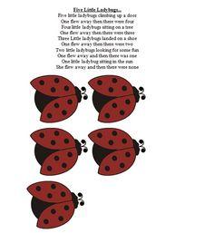 Five Little Lady Bugs Flannel Board