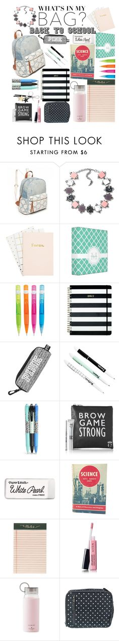 """""""Back to School"""" by ashstylist101 ❤ liked on Polyvore featuring Red Camel, Eshvi, Kate Spade, Vera Bradley, Paper Mate, MCM, Rifle Paper Co, Avon, backpack and inmybackpack"""