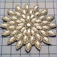 """Rhinestone Applique Pair, Crystal, Other/Unique, 6.25"""" x 4.5""""   Dreamtime Creations"""