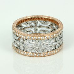rose white gold diamond eternity ring would love for my wedding love rose