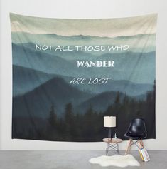 Tapestry Mountains Wall Hanging Not All by LocationPhotography