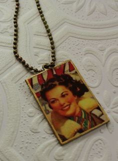 Urban Gypsy Sex Appeal Sally Flies The Sky Pinup Girl World War 2 Pendant Necklace by UrbanGypsyIndy on Etsy