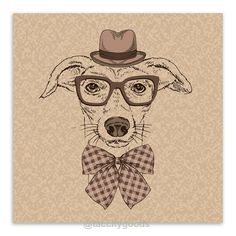 Modern Handpainted Canine Canvas Portraits - Home Decor - Tac City Goods Co - 8