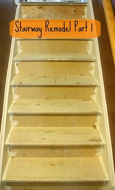 A step-by-step tutorial on a stairway remodel when you rip up your carpet to find pressboard or plywood underneath.