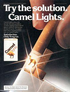 Camel lights cigarettes poster ad vintage tobacco 1970s @alikarami_