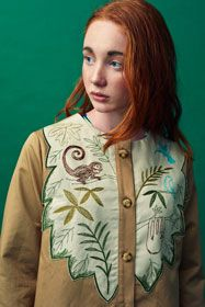 Jungle animals embroidered Jacket