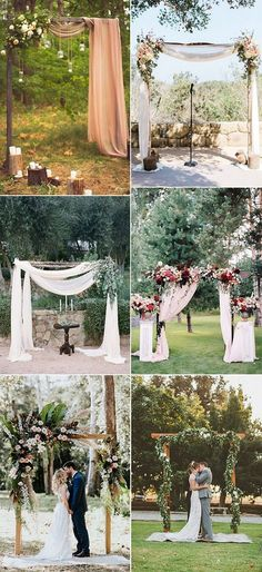 chic outdoor wedding arch decoration ideas #weddingarches #weddingdecor #weddingideas #weddinginspiration #bohoweddings #outdoorweddings