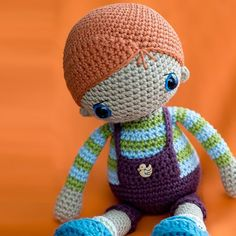 "Rudy likes to play around run and jump. He breaks hearts with his carrot red head and deep blue eyes. Discover how to make him in @lilleliis first book ""Magical Amigurumi Toys"" now in pre-sale find link in profile. #amigurumi #amigurumis #crochet #crochetersofinstagram #crafts #diy #doll #kidsrooms #toys #lilleliis #amigurumipatterns #magicalamigurumitoys by amigurumipatterns"